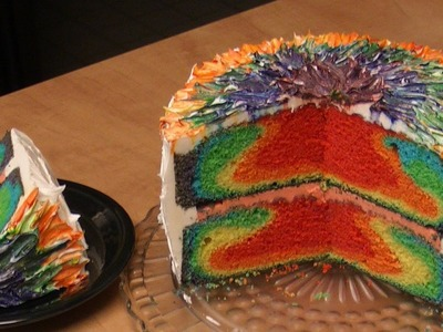 Rainbow Tie Dye Cake Recipe with Michael's Home Cooking