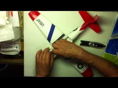 RC Dollar Tree Glider Conversion to Sport Military Trainer