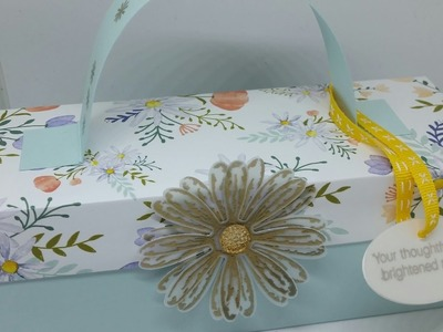 Reinforced Self Closing Gift Box Using Daisy Delight NEW PRODUCTS!