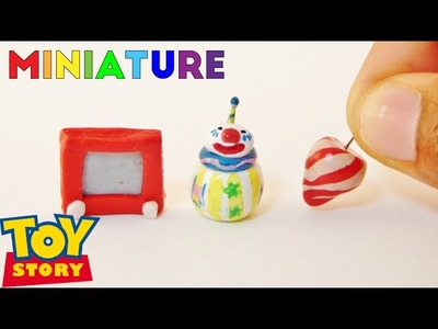 Roly Poly Clown, Etch-A-Sketch, Spin Top | Toy Story Miniature Room Box (1:12)