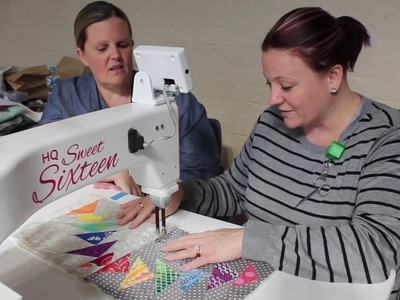 SASQA Video 13 How to Quilt the Flying Geese row with Heather Hopkins