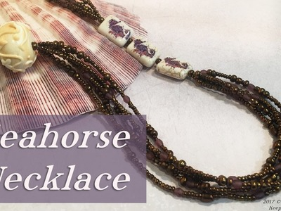 Seahorse Necklace-Beaded Beading Jewelry Tutorial