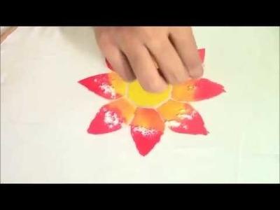 Silk fabric painting