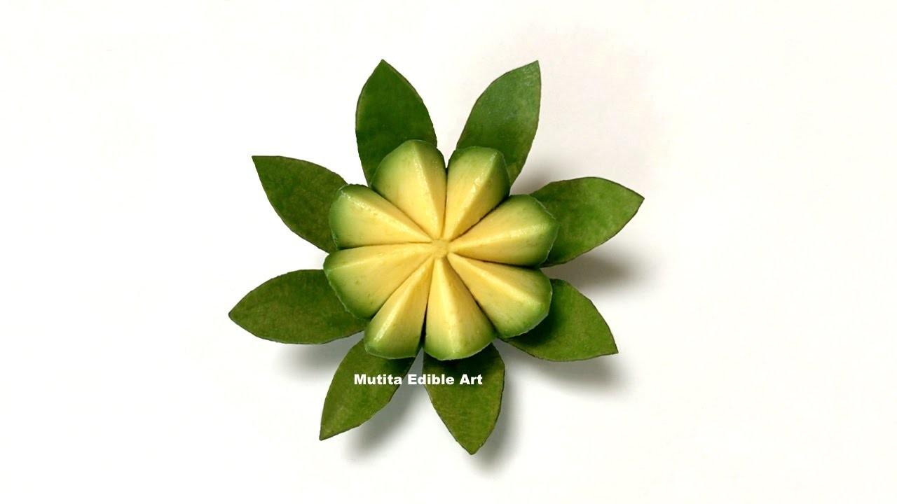 Simple Avocado Vegetable Lotus Flower | Beginners Lesson 139 | By Mutita Art Of Fruit & Vegetable Ca
