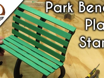 Simple Park Bench Plant Stand | Easy Woodworking DIY