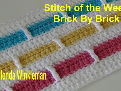 Special Request Stitch of the Week Brick By Brick Stitch 218 (Free Pattern at the end of the video)