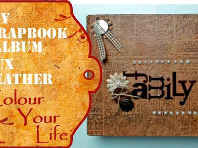Srapbook Album with faux leather cover also for beginners