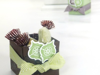 Stampin Up ADVENT COUNTDOWN 4 Sweetie Favour Box