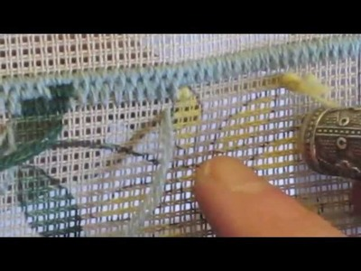 The Brick or Hungarian Needlepoint Stitch Part 2 of 2 (Gobelin Stitch)