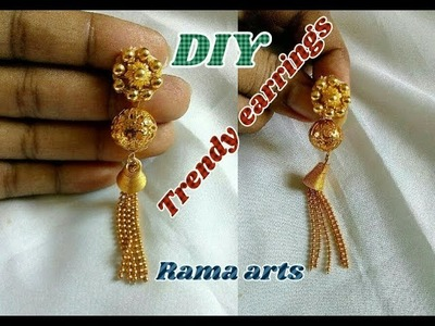 Trendy earrings - How to make this earrings | jewellery tutorials