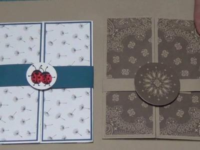 Tutorial - Gate Fold Shutter Card with Tip & Tricks