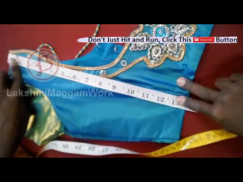 Tutorial how to do marking of blouse on Cot  type 2@lakshmimaggamwork