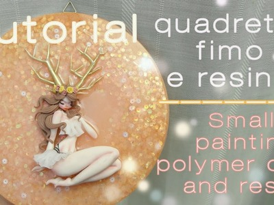 Tutorial Polymer clay and resin. Small painting handmade