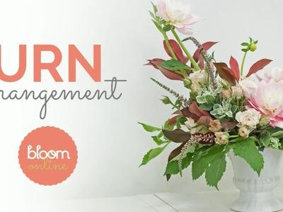 Urn Flower Arrangement Demo and Recipe Card