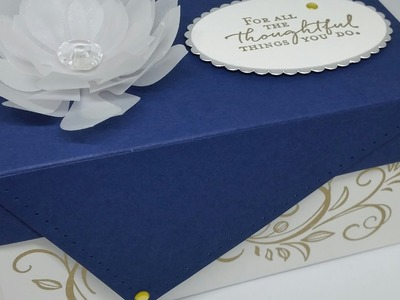 Very Elegant Heat embossed Gift Box With Fancy Lid