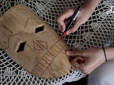 Wooden Mask from one piece of wood