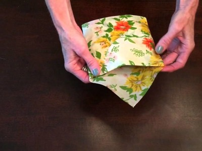 Wrapigami: Beeswax Wrap Sandwich Pocket Tutorial