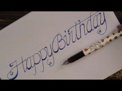 Write cursive fancy letters - how to write cursive fancy letters happy birthday