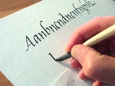 Writing with a turkey quill pen & sumi ink