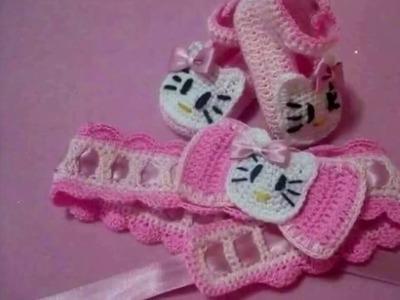 Zapatitos Tejidos En Crochet Ganchillo Puntos