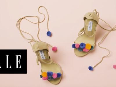 3 Ways to Add Pom Poms to Fashion Accessories | ELLE