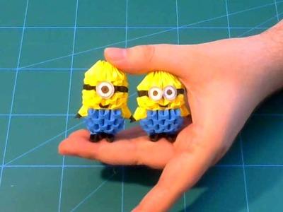 3D Origami small minion 1 tutorial | DIY paper small minion