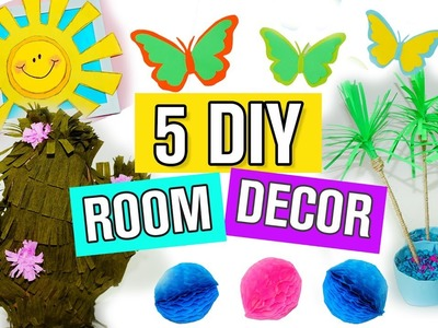 5 DIY Summer Room Decor Ideas - Easy and Beautiful Room Decorations for Summer. Julia DIY