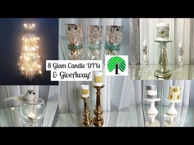 8 Glam Candles DIY - DOLLAR TREE & Totally Dazzled | GIVEAWAY ft Apollo Box Dream Catcher Chandelier