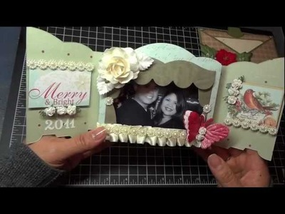 A Shabby Chic Christmas Shadow Box and a Card