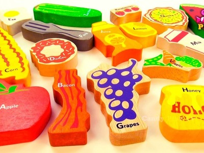 ABC SONG Learn ALPHABETS with wooden toys for kids Alphabet Songs on Candy Play TV