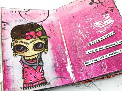 Art Journal Page ft. The Octopode Factory