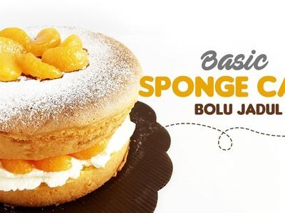 Basic Sponge Cake   Bolu Jadul Lembut tanpa SP.Baking Powder (Remake)