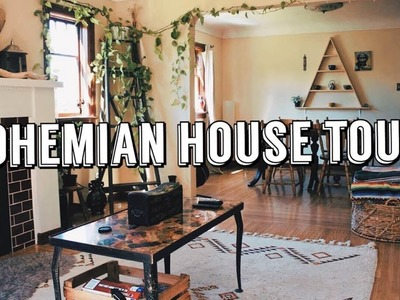 BOHEMIAN HOME TOUR. Thrifted Living Room & Dining Room