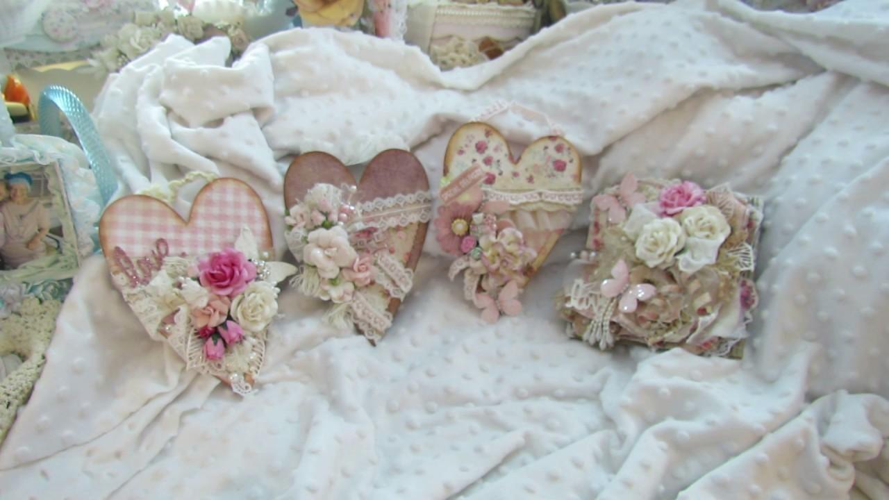 Brenda Walton Heart Pocket Creations and Shabby Chic Card