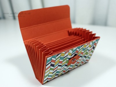 Card Wallet using Stampin' Up! Wild Flower Fields DSP