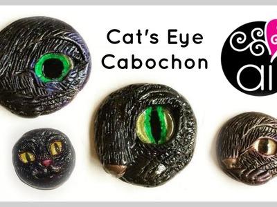 Cat's Eye Cabochon | Polymer Clay Tutorial