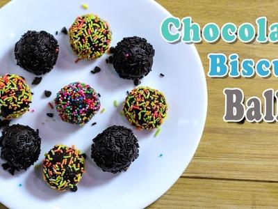 Chocolate Biscuit Balls-Chocolate Balls-Chocolate Recipes-Indian Recipes Ep-222