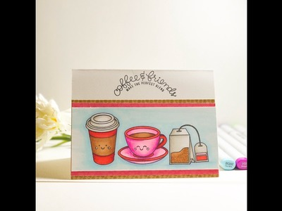 Coffee And Friends Card | SSS February 2017 Card Kit | Giveaway Results