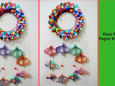 Craft Design : Very simple and Easy Hanging Paper Decorations for Any Events.Wall Decoration ideas