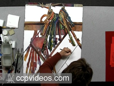 Critiquing and Finishing a Watercolor Painting: Keyless Entry with Linda Baker