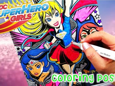 DC Super Hero Girls Velvet Sparkle Poster Set Coloring Book Episode 1  | Evies Toy House