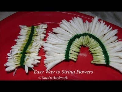 Different Method to tie Flower -How to String Flower - Easy Way (Method) to String Flowers