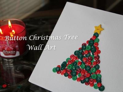 DIY: Button Christmas Tree Wall Art