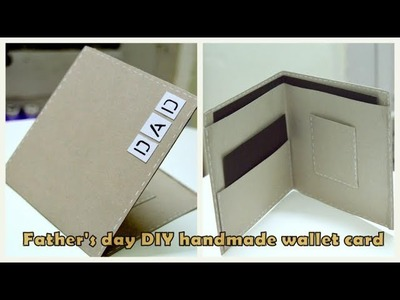 DIY Father's day Card | Wallet card Tutorial