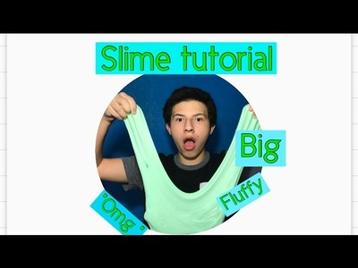 DIY FLUFFY SLIME !!! HOW TO MAKE SLIME
