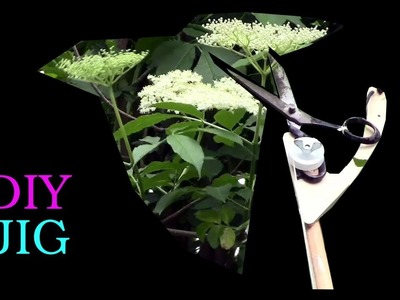 DIY JIG - long distance scissors for cutting elder flowers