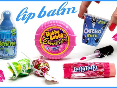 DIY Lip Balm! How To Make 5 Miniature Candy, Oreo & Bubblegum Lip Gloss DIYs! {Easy} Makeup Projects