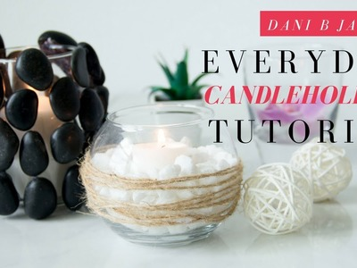 DIY Room Decor | Candleholder DIY Dollar Tree| $1 DIY Room Decor | DaNi B Jade