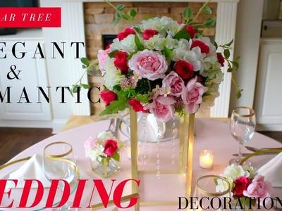 DOLLAR TREE ELEGANT & ROMANTIC WEDDING DECORATIONS | DIY CRYSTALS & GLASS CENTERPIECE