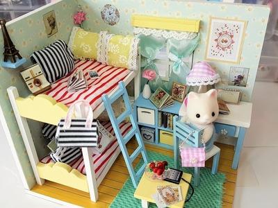 Dollhouse Room Kit DIY with LED lights ♥